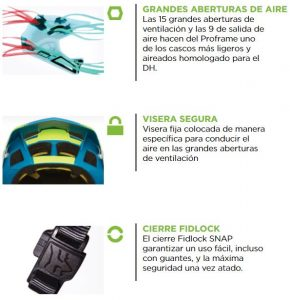 Casco FOX PROFRAME MOTH MIPS Amarillo
