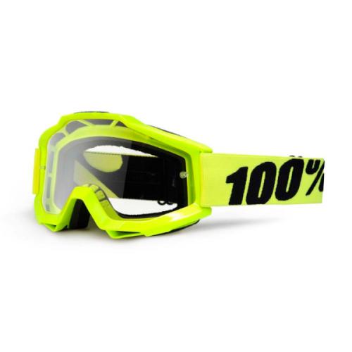 Máscara 100% Accuri Amarilla (Lente Transparente)