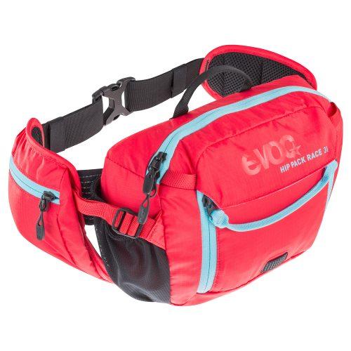 Riñonera EVOC Hip Pack Race Rojo con Bolsa 1,5 l