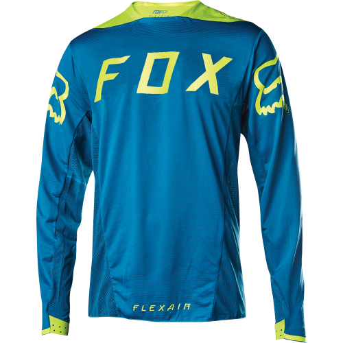 Maillot FOX Flexair LS Moth Teal 2017