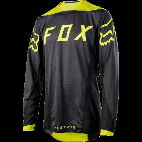 Maillot FOX FLEXAIR LS MOTH Negro/Amarillo