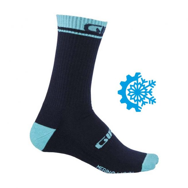 Calcetines GIRO Winter Merino Wool Black/Blue