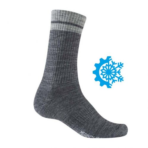 Calcetines GIRO Winter Merino Wool Gris