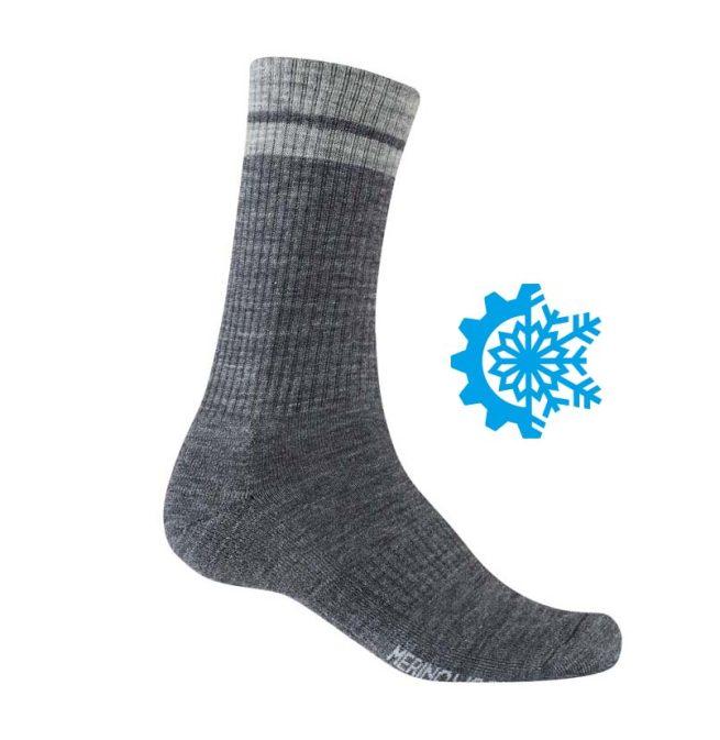 Calcetines GIRO Winter Merino Wool Gris