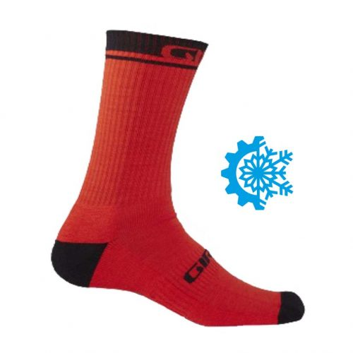Calcetines GIRO Winter Merino Wool Orange