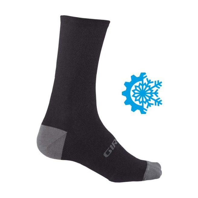 Calcetines GIRO HRC+Winter Merino Wool Negro