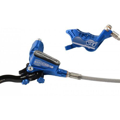 Frenos HOPE TECH 3 V4 Latiguillo Metalico Azul