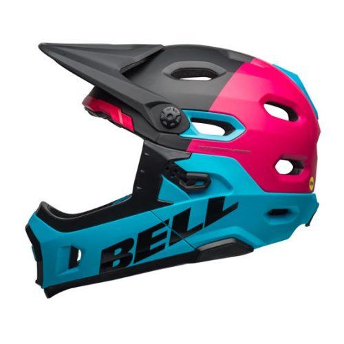 Casco Bell Super DH MIPS 2019 Negro/Rosa/Azul