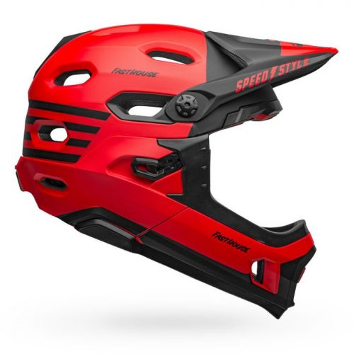 Casco Bell Super DH 2020 Fasthouse Rojo-Negro Matte
