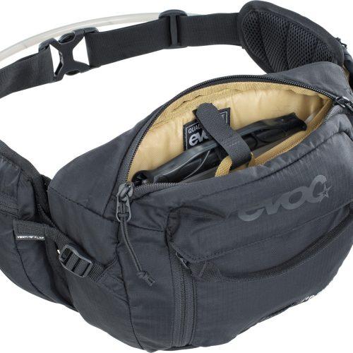 Riñonera EVOC Hip Pack 3L+Bolsa 1.5L Negro
