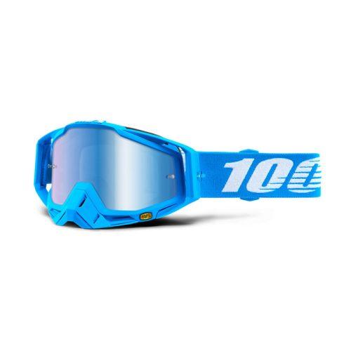 Máscara 100% Racecraft Monoblock (Lente Espejo Azul)