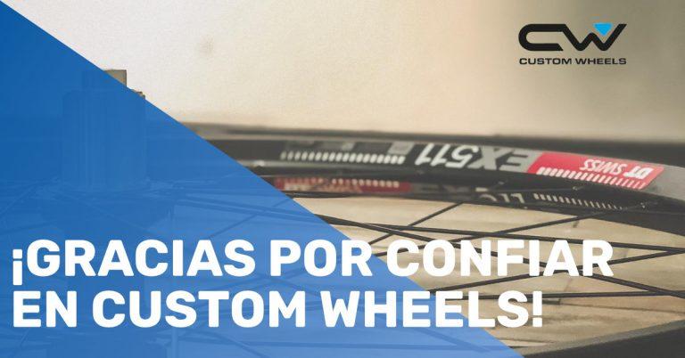 ¡Gracias por confiar en Custom Wheels!