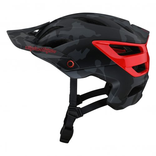Casco TROY LEE DESIGNS A3 Mips Camo Gray/Red