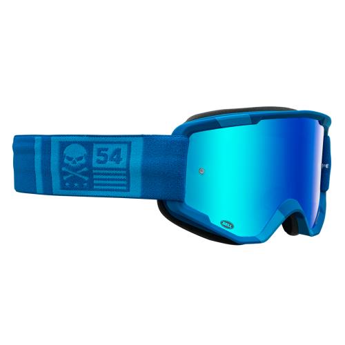 Gafas Máscara BELL Descender Crossbones Matte Light Blue Blue